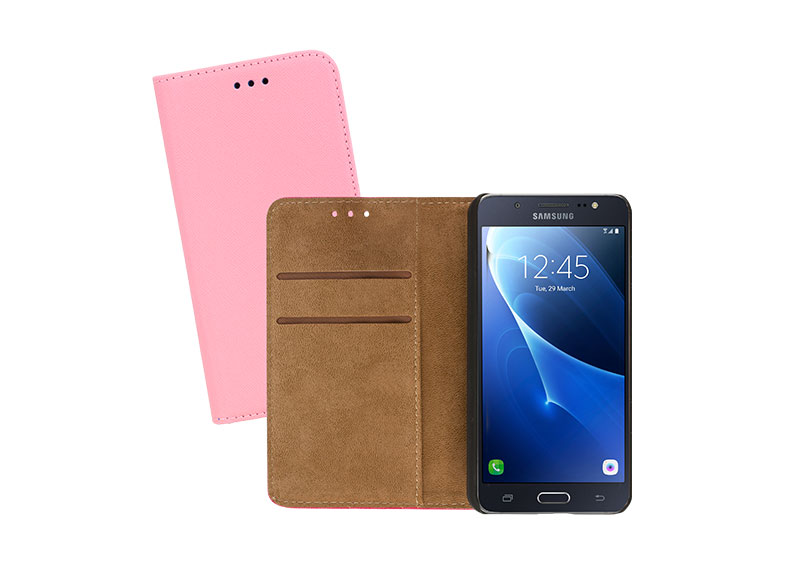 Sentio Book Cover Galaxy J 2016 pink