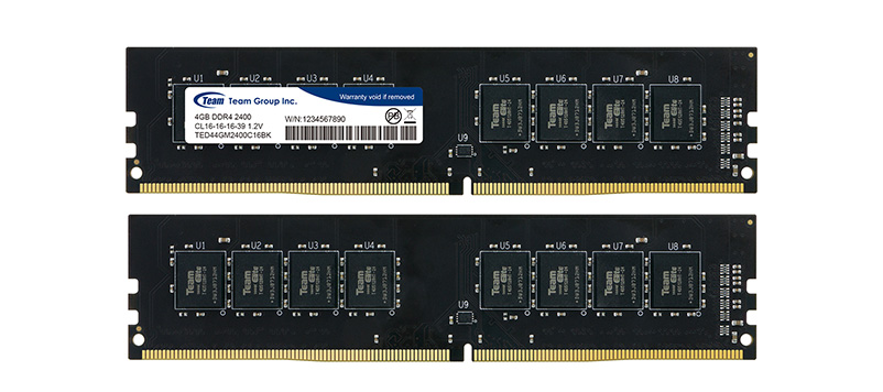 RAM Desktop TeamGroup 4GB 2400MHz DDR4