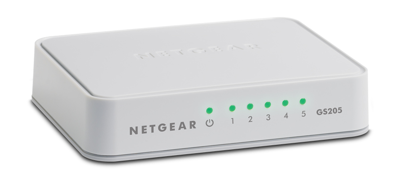 Switch 5-Port 10-100-1000Mbps GS205
