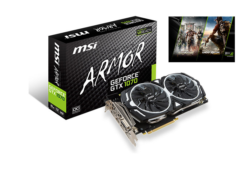 VGA MSI GeForce GTX 1070 Armor 8G OC