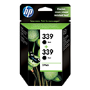 HP Μελάνι HP 339 Black Dual pack 791059