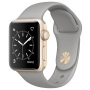 Watch Series 2, 38mm Gold Case  -Concrete Sport Band