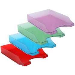 Q-Connect Letter Tray Transparent Colors