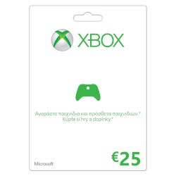 Microsoft Game cards Xbox LIVE 25 Euro