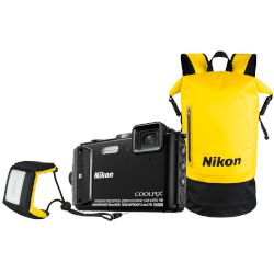 Nikon Αδιάβροχη Digital Camera Coolpix AW130 Diving Kit Μαύρο