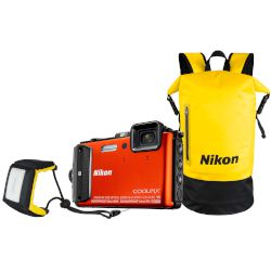 Nikon Αδιάβροχη Digital Camera Coolpix AW130 Diving Kit Πορτοκαλί