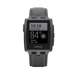 pebble Smartwatch Steel Μαύρο