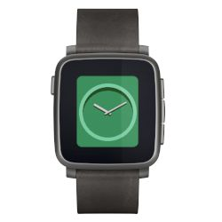 Smartwatch pebble Time Steel Μαύρο