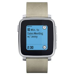 pebble Smartwatch Time Steel Ασημί