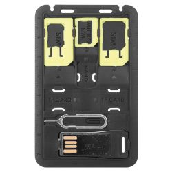 Sentio Sim Card Adapter 4 in 1, Πράσινο