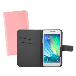 "Θήκη Sentio Book Cover για 5.0"" Light Pink"