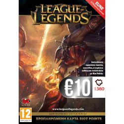 Riot Games League of Legends 1580 RP 10 EUR Card
