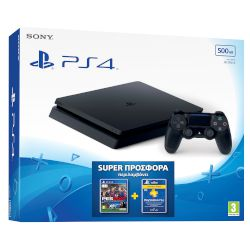 Sony Playstation 4 Slim 500 GB + PES 17 + Plus 90