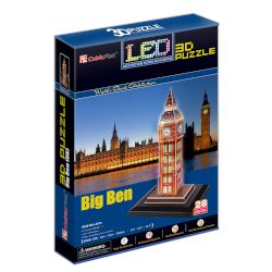 "CubicFun 3D Puzzle ""Big Ben"" (Led) 28 τμχ"