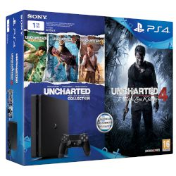 Sony Playstation 4 Slim 1 TB+ Uncharted : 4 A Thiefs End + Uncharted : N