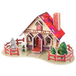 Sentio 3D Puzzle House Card Red 28 τμχ