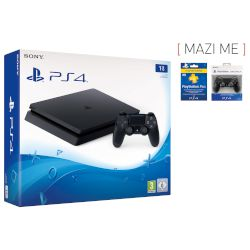 Sony Playstation 4 Slim 1 TB + Dualsock + 3-months
