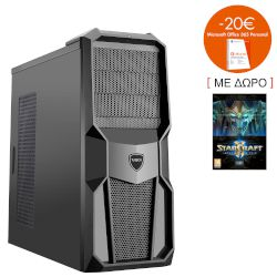 Turbo-X Cerberus GK200 Desktop (Intel Core i3 7100/8 GB/1 TB HDD/120 GB SSD/GTX750)