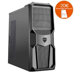 Turbo-X Cerberus GK400 Desktop (Intel Core i5 7400/8 GB/1 TB HDD/120 GB SSD/GTX1050 Ti)