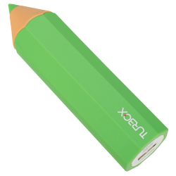 Powerbank 2600 mAh 1 Θέσης Turbo-X Πράσινο 1A,Pencil