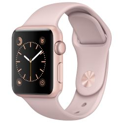 Apple Watch Series 1,38mm Rose Gold Aluminium Case-Pink Sport Band