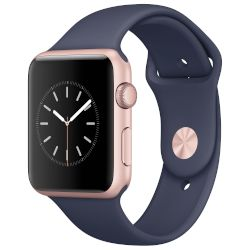 Apple Watch Series 1,42mm Rose Gold Aluminium Case-Blue Sport Band