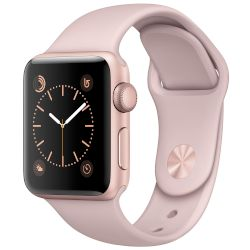 Apple Watch Series 2, 38mm Rose Gold Case -Pink Sport Band