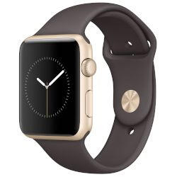 Apple Watch Series 2, 42mm Gold Case -Cocoa Sport Band