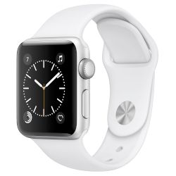 Apple Watch Series 2, 38mm Silver Case  -White Sport Band