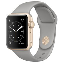 Apple Watch Series 2, 38mm Gold Case  -Concrete Sport Band