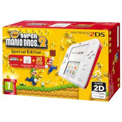 Nintendo 2DS White & Red + New Super Mario Bros 2 GR
