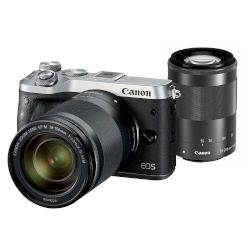 Canon Mirrorless EOS M6 15-45mm IS + 55-200mm IS Ασημί