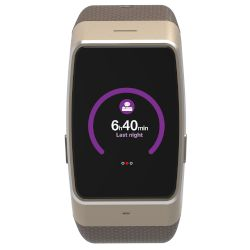 MyKronoz Smartwatch ZeWatch 4 HR Gold- Brown