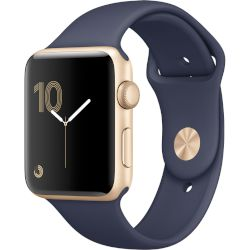 Apple Watch Series 2, 42mm Gold Aluminium Case -Midnight Blue Sport Band