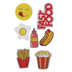 Puro Sticker Patch Mania Kit Food 7 patces