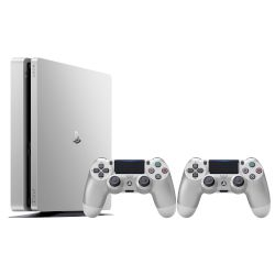 Sony Playstation 4 Slim 500 GB Silver + 2nd Silver DS4 v2