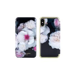 Θήκη TED BAKER Book Cover για iPhone X Μαύρη, Nalibise