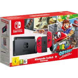 Nintendo Switch Super Mario Odyssey Edition Red Joy Cons
