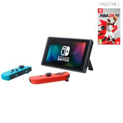 Nintendo Switch Red & Blue Joy Con + NBA 2K18