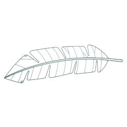 beeed488a3 Sentio Διακοσμητικό Τοίχου Μεταλλικό Leaf