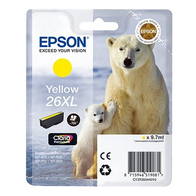 Μελάνι Epson 26XL Yellow