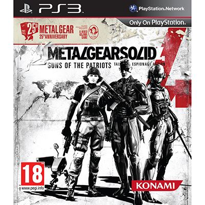 Konami Metal Gear Solid 4 Guns Of The Patriot 25t PS3