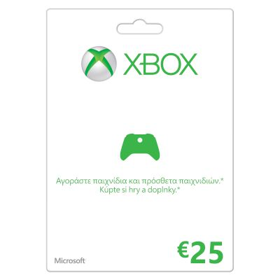 Game cards Xbox LIVE 25 Euro
