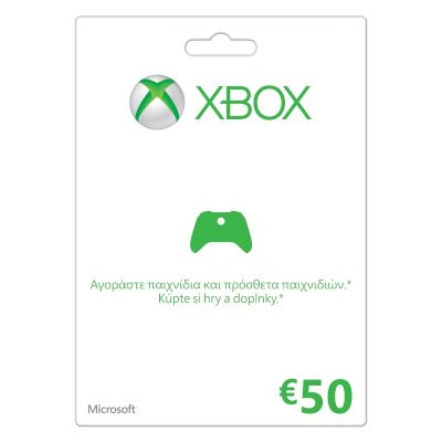 Game cards Xbox LIVE 50 Euro