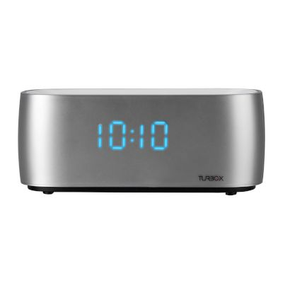 Turbo-X Ηχεία Bluetooth Alarm Clock Ασημί