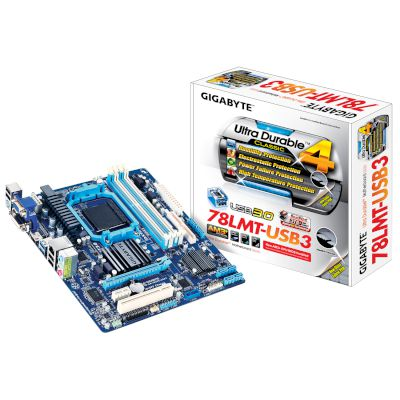 Gigabyte Motherboard 78LMT-USB3 (760G/AM3+/DDR3)