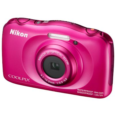 Nikon Αδιάβροχη Digital Camera Coolpix S33 Ροζ