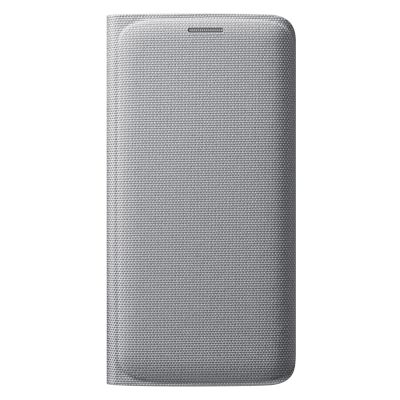 Θήκη Samsung Book Cover για Galaxy S6 Edge Ασημί