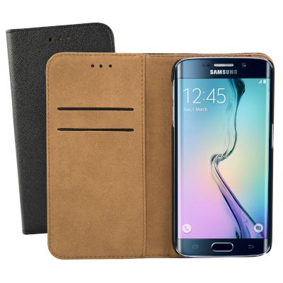 Θήκη Sentio Book Cover για Galaxy S6 Edge Μαύρη