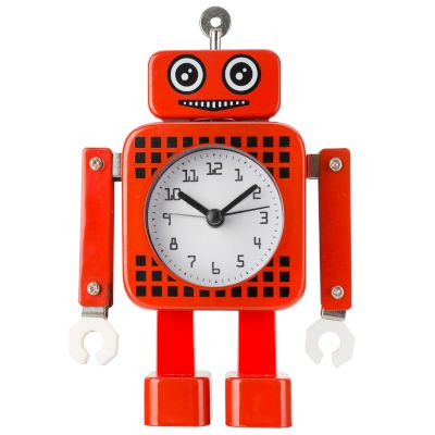 Robot Alarm Clock Red